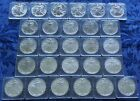 27 COINS 1986 2012 AMERICAN EAGLE UNCIRCULATED SILVER DOLLARS