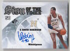 2013 14 SP AUTHENTIC DAVID ROBINSON SIGN OF THE TIMES AUTOGRAPH CARD #S-DR RARE!