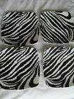 Set of 4 Roscher Zebra Collection Square Salad Plates  8 1/4