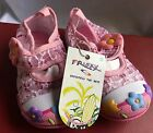 Frisky Pink Mary Jane Baby Toddler Canvas Sneakers With Flowers Sz 5 New