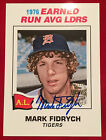 2001 Topps Archives #154TAA Mark Fidrych Hard Signed Fan Favorite Autograph Auto