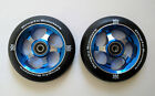 DIS 110mm Blue Metal Core Park Scooter Wheels2 Wheels w ABEC 11 Bearings