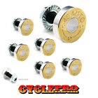 7 Pcs Billet Fairing Windshield Bolt Kit For Harley - BRASS 45 AUTO - 058
