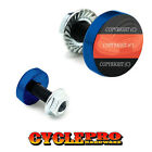 2 Vivid Blue Billet License Plate Frame Tag Bolts -  RED LINE FIREFIGHTER - 094