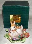 Fitz & Floyd Woodland Spring Salt and Pepper Shakers Easter Bunny Figurine Decor