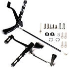 Black Forward Controls Pegs Levers Linkages For Harley XL 883 1200 06 13 Parts