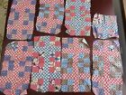 Vintage Patchwork Quilt Block Cotton Squares and Others w Various Patterns