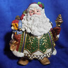 FITZ & FLOYD JOLLY OLE ST NICK LARGE SANTA COOKIE JAR - MIB