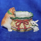FITZ and FLOYD WINTER HOLIDAY SANTA TIDBIT CANDY DISH 19/2172 - MINT / ORIG BOX