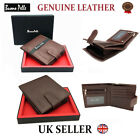 MENS RFID LEATHER WALLET DESIGNER BUONO PELLE QUALITY CREDIT CARD COIN HOLDER