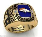 Denver Broncos Super Bowl 50 Champions Fan Ring Sizes 10 and 11