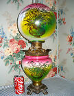 1900 Victorian GWTW Parlor Banquet Lamp PALM PLANTS JARDINIERES Consolidated