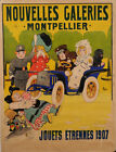 Original Vintage French Poster Advertising Nouvelles Galeries by Thor 1907