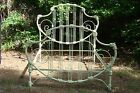 Antique Iron Bed - Lions Head Shield