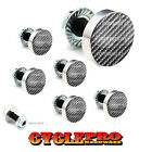 7 Pcs Billet Fairing Windshield Bolt Kit For Harley - CARBON FIBER - 193