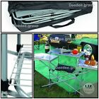 Table Grill Portable Camping Cooking RV Backyard Folding Side Shelves Rack BBQ
