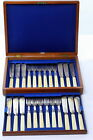 Antique Gibson of Belfast  Hallmarked Fish Cutlery Set In Box for 12