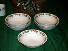 SET OF 7 Gibson Designs CHRISTMAS CHARM Cereal Bowls  6 1/4