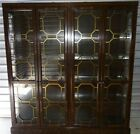 Widdicomb Oriental Style Dining Room Double Lighted China Cabinet