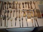 83 Pc Vintage Silver Plate Flatware Lot Mixed Scrap Craft Jewelry Milady 18 lbs