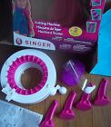 SINGER learn HOW TO easy knit KNITTING MACHINE craft kit HAND CRANK tabletop