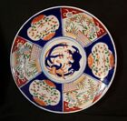 Antique Japanese Imari LARGE PLATTER / CHARGER Hand Painted w/ gold
