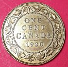1920 Canada 1 Large cent world foreign coin Excellent condition