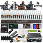 Complete Tattoo Kit 4 Machine Gun 40 Color Ink Power Supply Tip 50 Needle D120VD