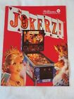 1988 WILLIAMS JOKERZ PINBALL  FLYER NOS