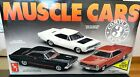 VINTAGE Muscle Cars 3Complete 1/25ModelKits 1966Ford/1968 Plymouth/1965 Pontiac