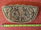 1940s 50s Vintage Hand Beaded Purse Bag Clutch White Pearls silver Glass Beads