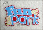 Die Cut FUN AT THE PARK Title Premade Scrapbook Page Paper Piecing CKS Designs