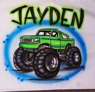 Airbrushed Custom T shirt Personalized Monster Truck Car Dirt Cool Team2T 3XL