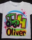 Airbrushed Custom Personalized T Shirt Age Truck Farm Car Tractor Sizes 2T 3XL