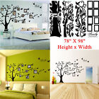 Large 78X99 Photo frame Family Tree Removable Wall Decal Stickers Home Decor B