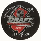 Nathan MacKinnon - Signed 2013 Draft Puck Inscribed