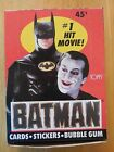 Display Box of Topps BATMAN trading cards, 36 unopened packs, 1989