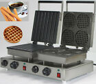 Double Head Electric Churros Waffle Maker Machine_round belgian waffle maker