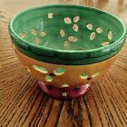 Sue Zipkin Sweet Shoppe CHRISTMAS BOWL Ceramic Berry Fruit Colander Sango 7