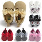 Baby Soft Sole Leather Shoes Newborn Girl Toddler Crib Moccasin Prewalker 0 18M