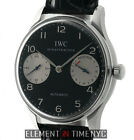 IWC Portugieser 2000 Steel Black Dial Limited Edition Caliber 5000 IW5000-01 B+P