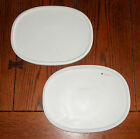 2 NEW Corning Ware French White Oval Plastic Storage Lid F-2-PC fit 1.5