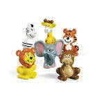 12 ZOO ANIMAL SAFARI BABY SHOWER Birthday Party Favors Cake Cupcake Toppers