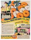 MAYFLOWER DOWNYFLAKE AD, Donuts, Repro 1930's Advertisement Art, 7.75