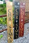 ~~PRIMITIVE CHRISTMAS VERTICAL WOOD SIGN~~MERRY CHRISTMAS~~HOLLY~~STAR~~