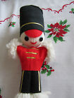 Vintage JAPAN YARN AND FELT TOY SOLDIER CHRISTMAS ORNAMENT 925 TALL SUPER CUTE