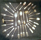 30 Pc  Vintage Lot SilverPlate Flatware Fork Spoon Craft Jewelry Tarnished