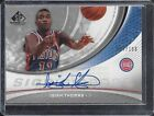 ISIAH THOMAS 2005 SP GAME USED SIGNIFICANCE PISTONS AUTO #D 27 100