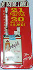 Vintage Chesterfield Cigarettes Store Advertising Tin Thermometer Sign
