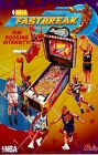 NBA Fastbreak Pinball Machine Original Bally Poster From 1997 D
